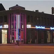 Fassadenbgestaltung Schreib+Keppler Lichtwerbung Hamburg Deutschland Nachtwirkung