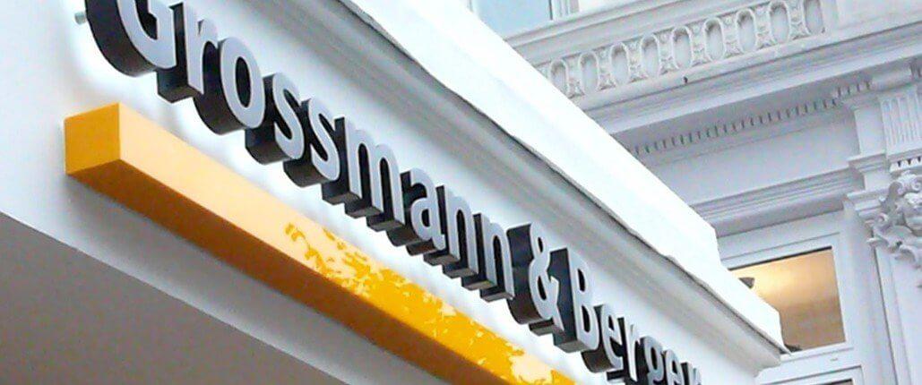 Grossmann Berger Lichtwerbung Hamburg Schreib+Keppler, Lüneburg, Lichtwerbeanalagen, Lichtreklame, Leuchtreklame Außenwerbung Profilbuchstaben