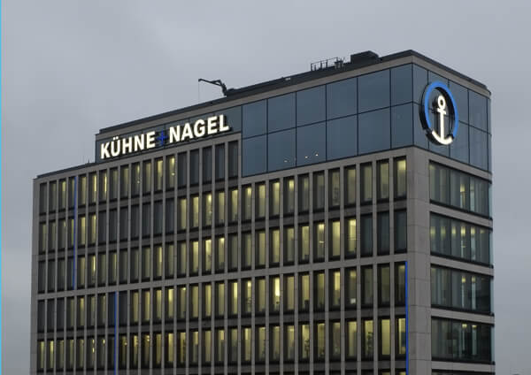 Leuchtwerbung Hamburg Logistik