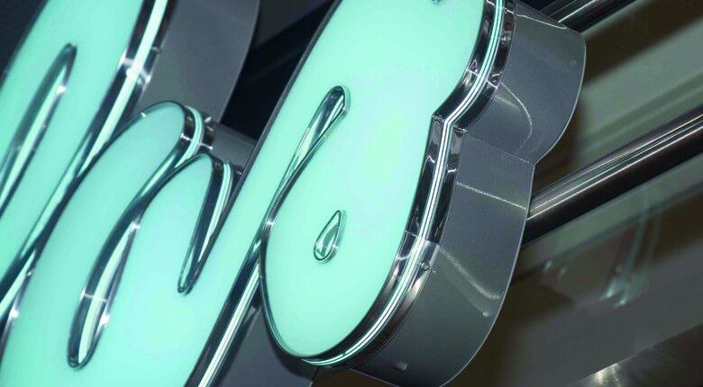 Douglas Hamburg Schreib+Keppler, Deutschland Lichtwerbeanalagen, Lichtreklame, Leuchtreklame Außenwerbung Profilbuchstaben