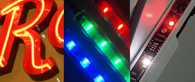 Lichtquellen Leuchtröhren Lichtwerbung Schreib+Keppler Montage Produktion Norddeutschlands größter Fertigungsbetrieb für Werbung mit Licht Lichtwerbung