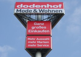 Dodenhof Werbetürme Schreib+Keppler Lichtwerbung Hamburg Deutschland Werbemasten Großwerbeanlagen international