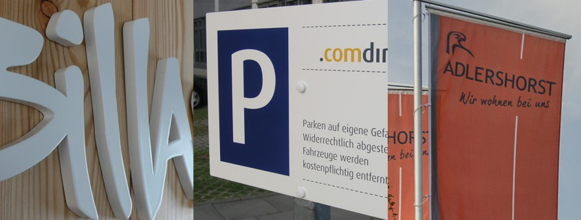 Wegeleitsysteme, Parkleitsysteme Profilbuchstaben Lichtwerbung Schreib+Keppler,
