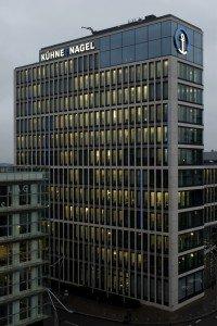 Die Firmenzentrale von Kühne+Nagel in der Hamburger Hafencity