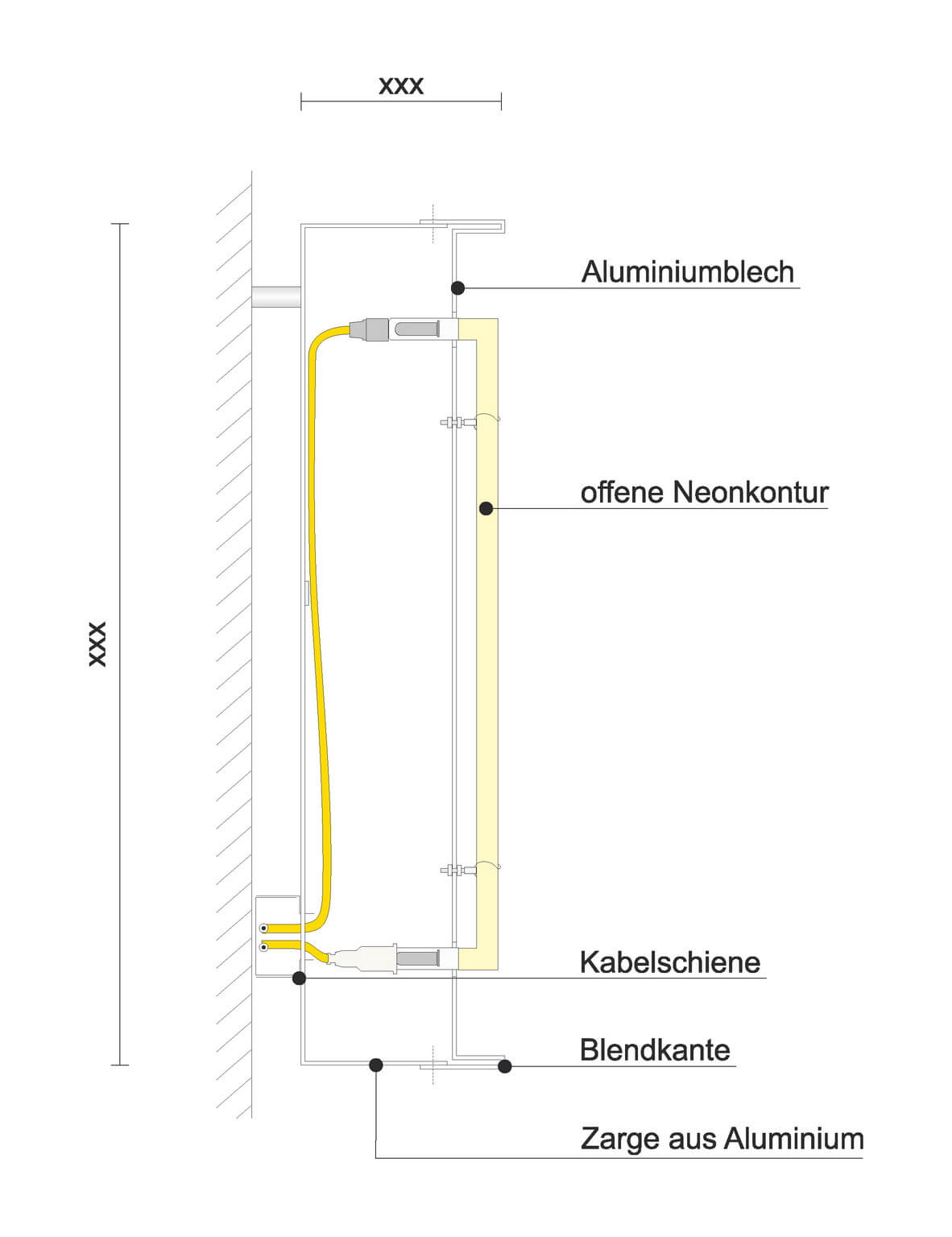 Leuchtbuchstaben und Leuchtlogos   Lichtwerbung Schreib+Keppler